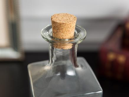Bourgogne Mantar Kapaklı Cam Şişe