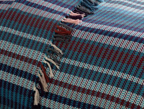 Patience Çift Kişilik Yatak Örtüsü - Mavi / Mor