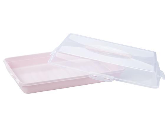 Linda Fırın Kabı Taşıma Kutusu - Soft Gri