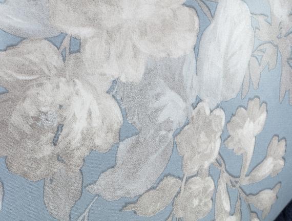 Curtice Çift Kişilik Saten Baskılı Nevresim Takımı - Mavi