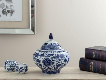 Avignon Bleu Blanc Dekoratif Obje