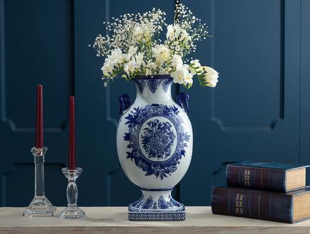 Les Abymes Bleu Blanc Dekoratif Obje