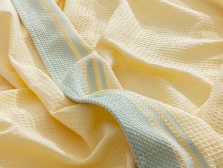 Aliana Tek Kişilik Pike - Sarı / Mint