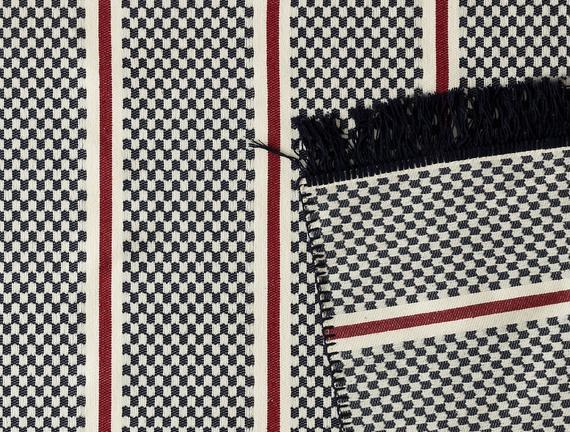 Lucien Saçaklı Dokuma Kilim - İndigo - 80x150cm