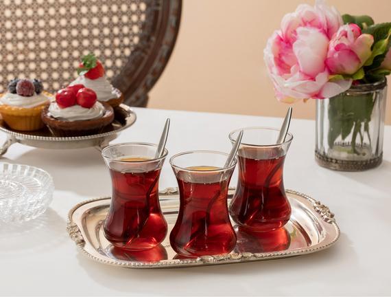 Victorine 6'lı Çay Bardağı Seti