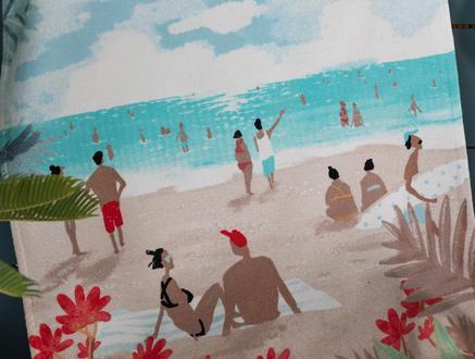 Saleccia Baskılı Kadife Plaj Havlusu