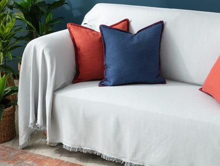 Gisella Koltuk Şalı - Gri / Beyaz - 160x250 cm