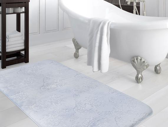 Emboss Banyo Paspası - İndigo - 120x180 cm