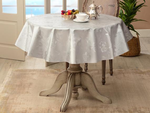 Rouen Masa Örtüsü - Gümüş - 140 cm