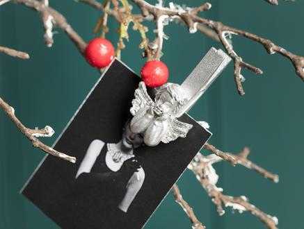 Melekli Mini Mandal Set - Gümüş