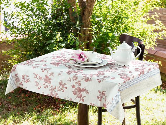 Laurette  Tek  Kullanımlık Masa Örtüsü - Kırmızı / Bej