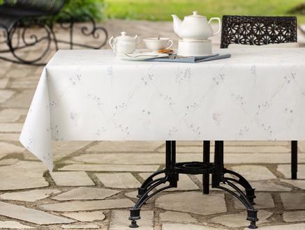Blanche Masa Örtüsü - Mürdüm / Bej