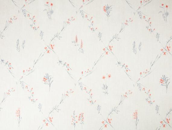 Blanche Masa Örtüsü - Mercan / Lacivert - 140x140 cm