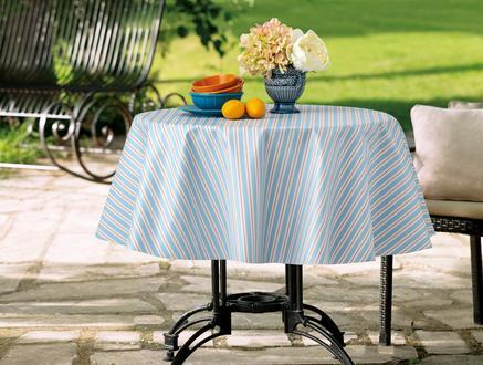 Stripe Masa Örtüsü - Mavi / Mercan