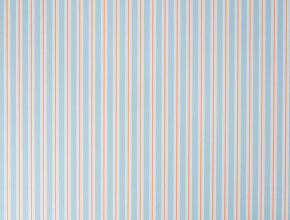 Stripe Pvc Masa Örtüsü - Mavi / Mercan