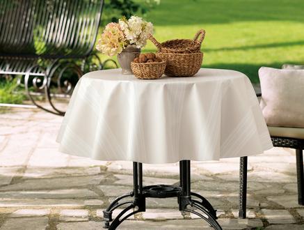 Raymond Masa Örtüsü - Bej / Beyaz