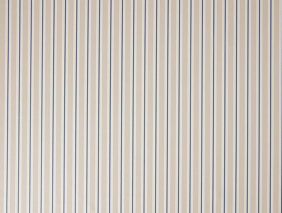 Stripe Masa Örtüsü - Bej / Lacivert - 140x140 cm