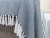 Margaret Koltuk Şalı - Beyaz / Lacivert - 170x180 cm