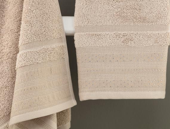 Trinetta Havlu Set - Bej - 70x140 cm