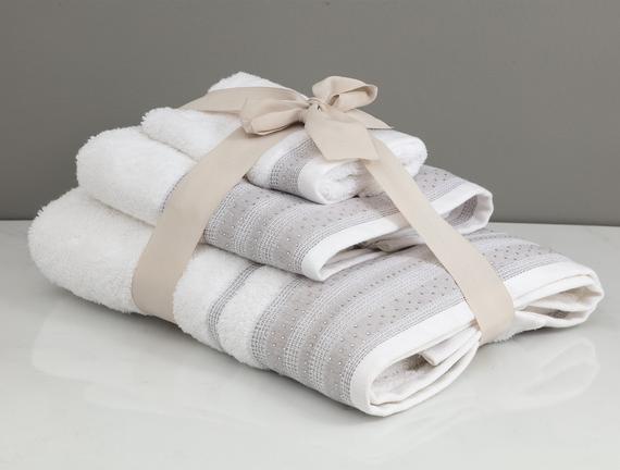 Trinetta Havlu Seti - Beyaz