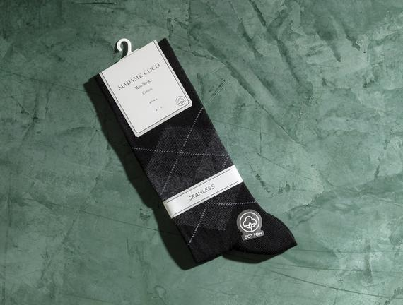 Reims Erkek Soket Çorap - Siyah