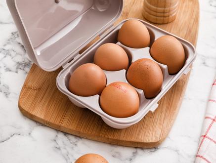 Quotidien 6'lı Yumurta Saklama Kabı - Açık Mürdüm