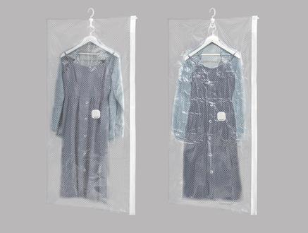 Alceo Vakumlu Askılı Elbise Kılıfı - Beyaz