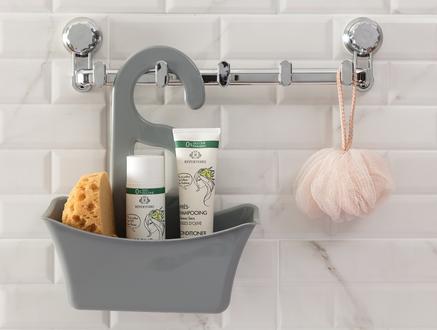 Graque Banyo Askılığı - Beyaz / Gri