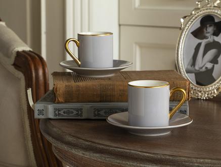 Phillipa 4'lü Kahve Fincan Takımı - Soft Gri