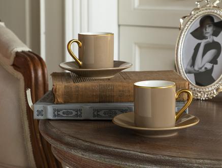 Phillipa 4'lü Kahve Fincan Takımı - Bej