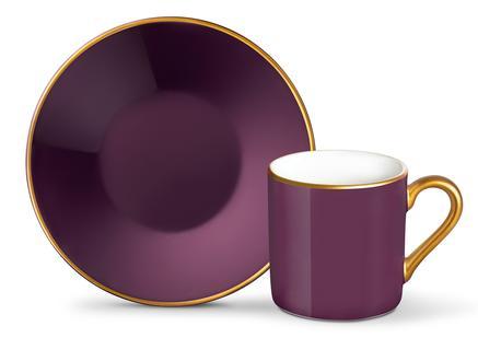 Phillipa 4'lü Kahve Fincan Takımı - Mürdüm