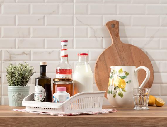 Dacre Geniş Mutfak Düzenleyici - Soft / Ekru