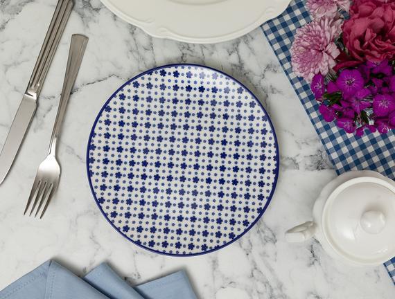 Rêve Bleu Délicat Pasta Tabağı - Mavi