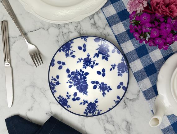 Rêve Bleu Nature Pasta Tabağı - Mavi