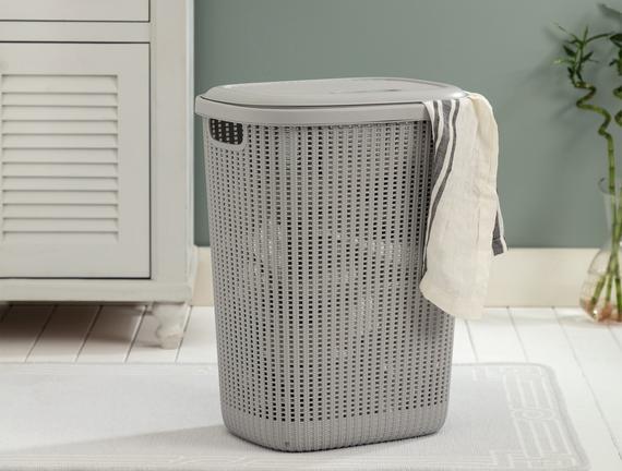 Rubicon Çamaşır Sepeti - Soft Gri - 34,5x58 cm