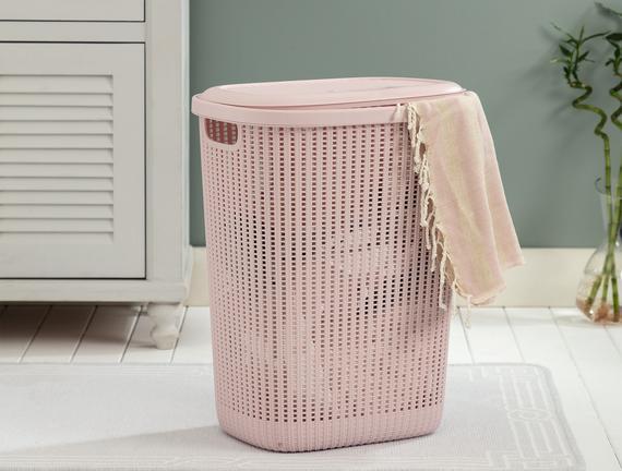 Rubicon Çamaşır Sepeti - Soft Pudra - 34,5x58 cm