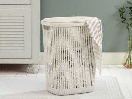 Rubicon Çamaşır Sepeti - Soft Ekru - 34,5x58 cm