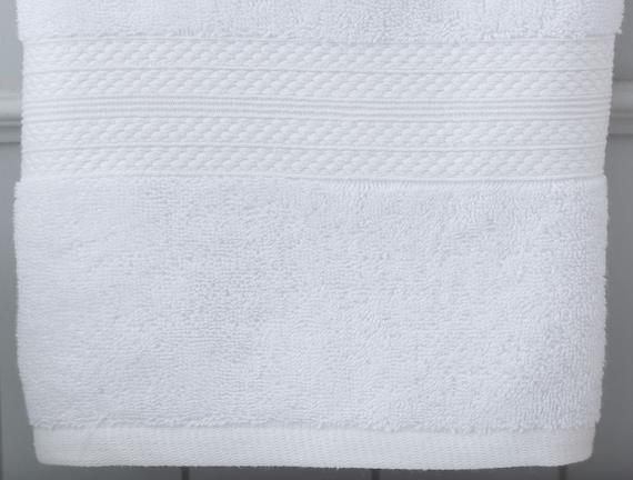 Roxane Yüz Havlusu - Beyaz - 50x76 cm