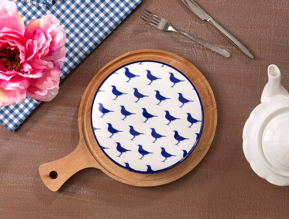 Rêve Bleu Sérénité Pasta Tabağı - 19 cm