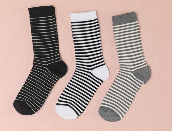 Rester Kadın 3'lü Soket Çorap - Lacivert