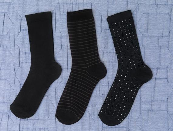 Rond Kadın 3'lü Soket Çorap - Siyah