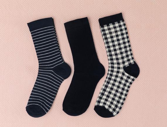 Carina Kadın 3'lü Soket Çorap - Gri