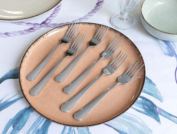 Crown 6'lı Yemek Çatalı Seti