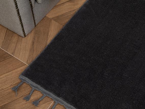 Carol Saçaklı Halı - Antrasit 200x300 cm