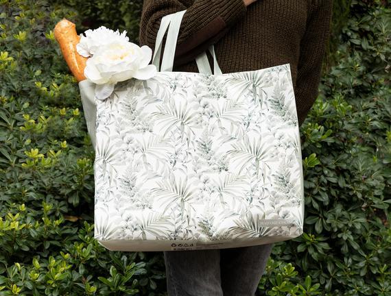 Caresse Alışveriş Çantası - Lacivert / Yeşil