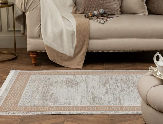 Audra İplik Boyalı Kadife Halı - Vizon 120x180 cm