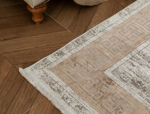 Audra İplik Boyalı Kadife Halı - Vizon 160x230 cm