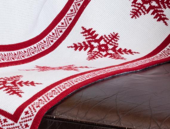 Aurora Triko Battaniye - Kırmızı