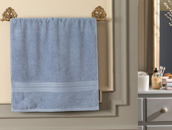 Roxane Yüz Havlusu - Mavi - 50x76 cm