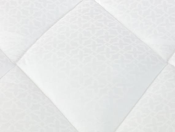 Faust Jakarlı Biyeli Tek Kişilik Yorgan - Beyaz